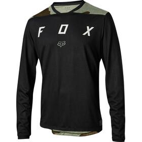 Fox Indicator Mash Camo Langermede Sykkeltrøyer Herre Grønn/Svart